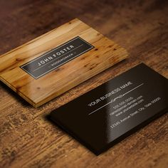 Woodworker - Border Wood Grain Business Card