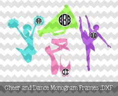 The Cheer and Dance Circle Monogram file is for use with your Silhouette Studio Software or other programs that can read .dxf or .svg files.