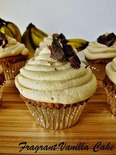 Vegan Peanut Butter Banana Chocolate Chunk Cupcakes