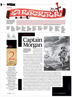 Lettering by Erik Marinovich | Pirate magazine page in Wired.