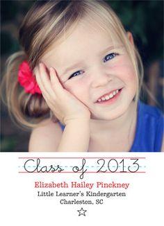 Kids Graduation Photo Card Graduation Announcement