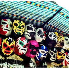 Mexican wrestling masks on Olvera Street