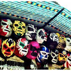 Mexican wrestling masks on Olvera Street