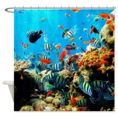 NEW: #Fishes 002 #Shower Curtain #JAMFoto #Cafepress.com