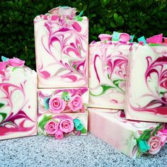This is my roses fundraiser soap #sensuallysoaps #handmadesoap #coldprocess #rosessoap