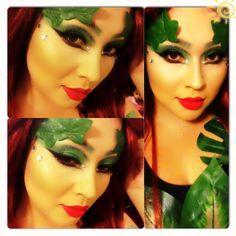 Get inspired! My cousin's FABulous Poison Ivy look.  #Halloween #makeup @Anna Totten Muro