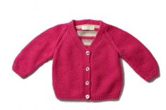Olivier Baby & Kids Pink Striped Back Cardigan