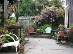 outdoor seating by hortulus, via Flickr