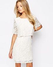 Vila Lace Detailed Dress