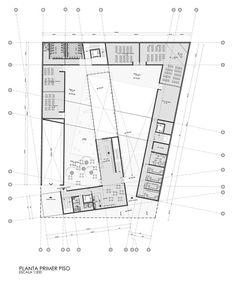 Propuesta para el Museo Regional de Atacama,Planta 01 City Hall Architecture, Architecture Concept Drawings, Modern Small House Design, Ecology Design, Conceptual Design, Architect Design, Building Design, How To Plan, Museum Exhibition