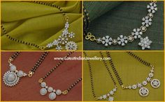 Diamond Pendant Black Beads Mangalsutra Designs | Latest Indian Jewellery Designs