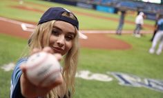 Love this girl and love the Rays (BTW- my cousin plays for the Rays)
