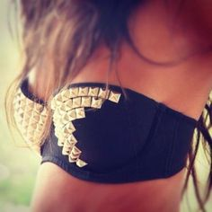 Studds everywhere! Going to work on this as soon as I find a strapless bra that fits...OHHHH BATHING SUIT??