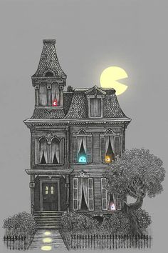 I've recently found a super awesome gallery / store for designers and illustrations who want to sell their art, called There are some amazing pieces of art there, like these illustrations by Terry Fan. Terry Fan, Photoshop, House Illustration, Canvas Prints, Art Prints, Canvas Art, Halloween Art, Halloween Garland, Gothic Halloween