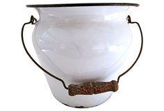 French Enamel Handled Bucket on OneKingsLane.com