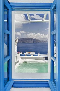 Window view in Santorini