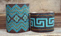 One of a Kind, Handcrafted Southwestern Beaded Cuff Bracelets