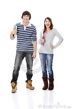 Stock photos, like this one from dreamstime, reveal unspoken rules about how men and women should stand Gender Binary, Man Standing, Young Women, Teen, Stock Photos, Female, Couples, Books, Fashion