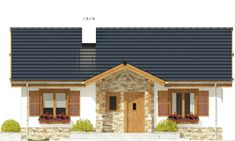 Projekt domu Ares - wariant B - Dom Dla Ciebie Outdoor Decor, Home Decor, Interior Design, Home Interiors, Decoration Home, Interior Decorating, Home Improvement