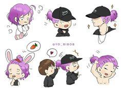 Bobby, Flower Road, Ikon Kpop, Ikon Wallpaper, Fandom, Hanbin, Love Art, Chibi, Fan Art