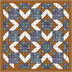 The square chevrons quilt is made using 4 patch units and half square triangles…