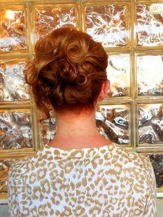 Short hair updo. By Amanda