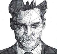 Johnny Depp. Josh Bryan, un artista inglés de 20 años, es el autor de la serie Triangulations.