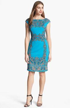 Maggy London Print Sheath Dress | Nordstrom