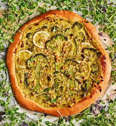 Vegetable Pizza, Pesto, Vegetables, Recipes, Food, Kitchen, Cooking, Recipies, Essen