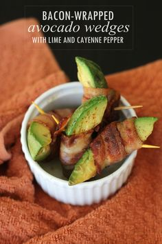 Bacon-Wrapped Avocado Wedges (21DSD) #FreckledItalian