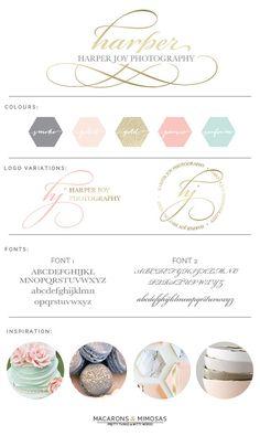 Design Studio | Branding | Business Branding | Brand Board | Branding Kit Logo Design | Rose Gold Logo | Blush Pink Teal Color Scheme | Fancy Script Font Calligraphy Watercolor | Premade Submark Watermark Stamp | Blogger Photography