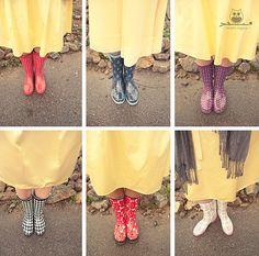 bridesmaid rainboots