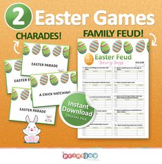 Family Feud Game, Family Games, Cute Games, Funny Games, St Patrick's Day Games, Scramble Game, Easter Games, Adult Party Games
