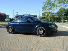 My car: navy blue Audi TT with mat black alloy wheels, as new as possible but still the nice old shape!