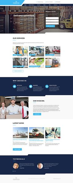 Courier & Packages #website #template. #themes #business #responsive #websitethemes