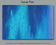 Abstract canvas art print designed for navy blue, teal, and violet home or office decor. Oversized prints are available. Artist - Denise Cunniff - ArtFromDenise.com. View more info at https://www.etsy.com/listing/261378566