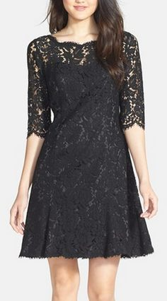Gorgeous lace dress in classic black