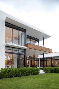 Floor-to-Ceiling Windows, Modern Home in Golden Beach, Florida I need to go see if this is on the same lot we used to live on