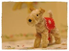 Pipe Cleaner terrier dog vintage style by maruton on Etsy