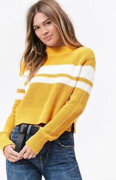 f97bcccca9a91 New Lottie Moss x Pacsun Womens Yellow Gold Mock Neck Crochet Knit Sweater  Small  LottieMoss