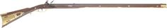 maryland longrifle - .45 caliber - 42 inch green mountain barrel curly maple - engraved brass - silver lock