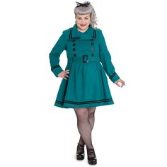 2df8f91e13ee7 Hell Bunny Millie Coat- Ocean - Re Dress Online