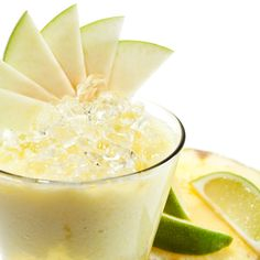 This pineapple apple smoothie recipe is super refreshing. It also contains bananas, coconut milk and fresh lime juice. A very nutritious healthy drink.. Pineapple Apple Smoothie  Recipe from Grandmothers Kitchen.
