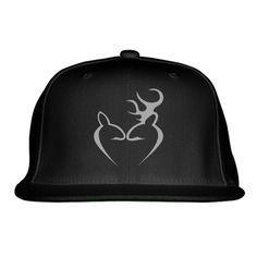 Deer Love Embroidered Snapback Hat
