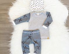 Organic baby boy coming home outfit Newborn boy take by Londinlux