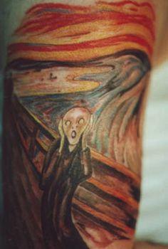 Il tatuaggio è un'opera d'arte: disegni ispirati alla pittura
