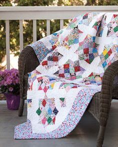 Good Night, Irene by Jenny Doan from Quilting Quickly Fall 2013 is a bed size quilt pattern that features 16 patch quilt blocks and X quilt blocks.