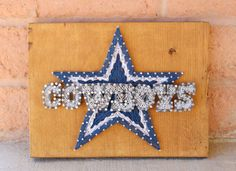 Dallas Cowboys String Art 8.5x11.25 by SasekCreations on Etsy