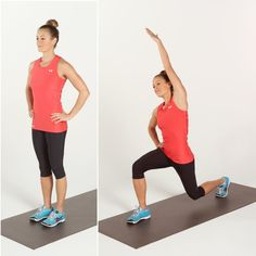 Pin for Later: Be a Part of Our 4-Week Beginner Bodyweight Challenge Reverse Lunge With Reach