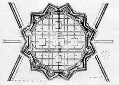 Plan of Ideal City by Vincenzo Scamozzi (1615)